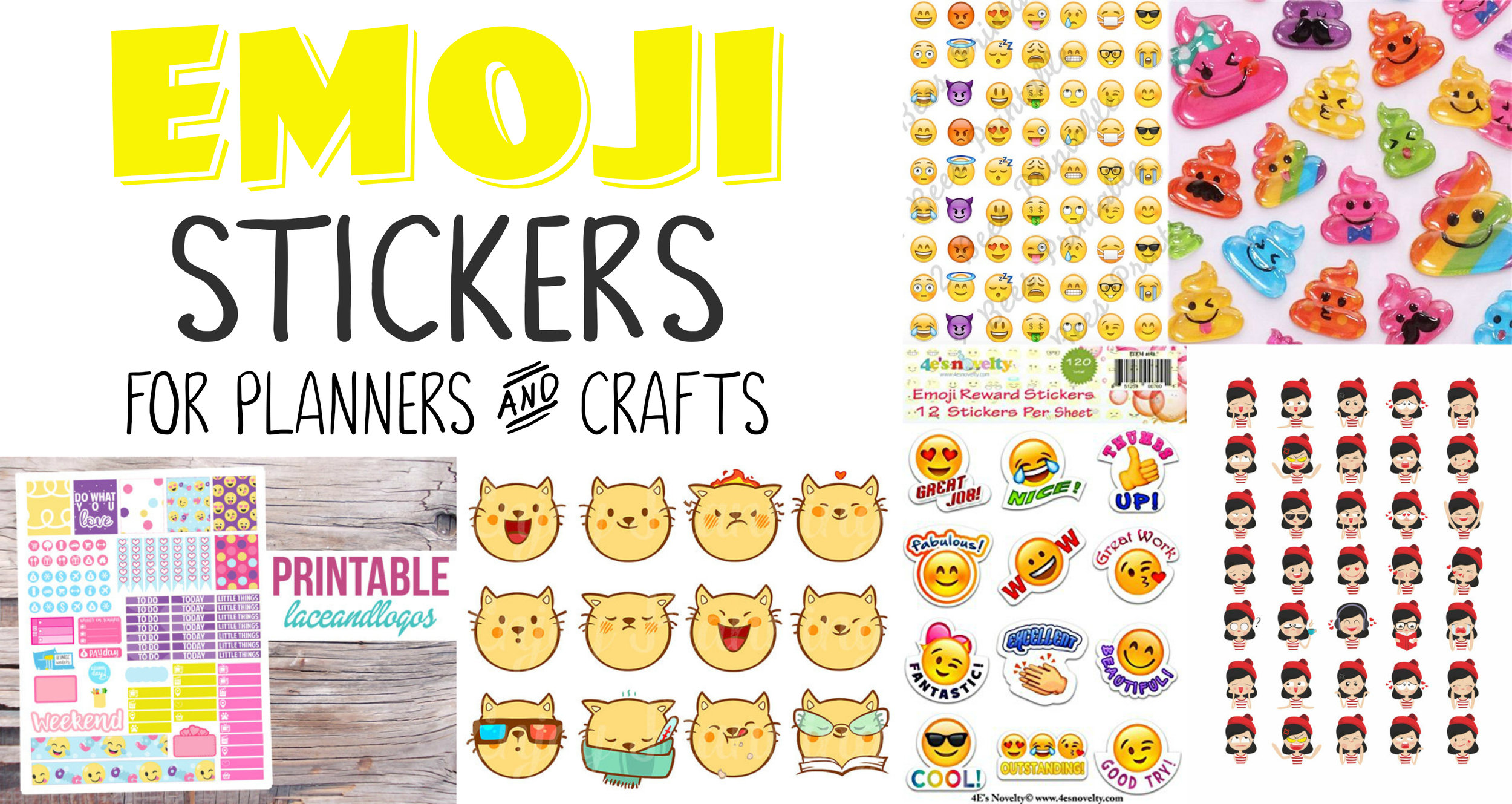 graphic regarding Printable Emoji Stickers named Emoji Planner Stickers and Arts and Crafts Stickers Easiest