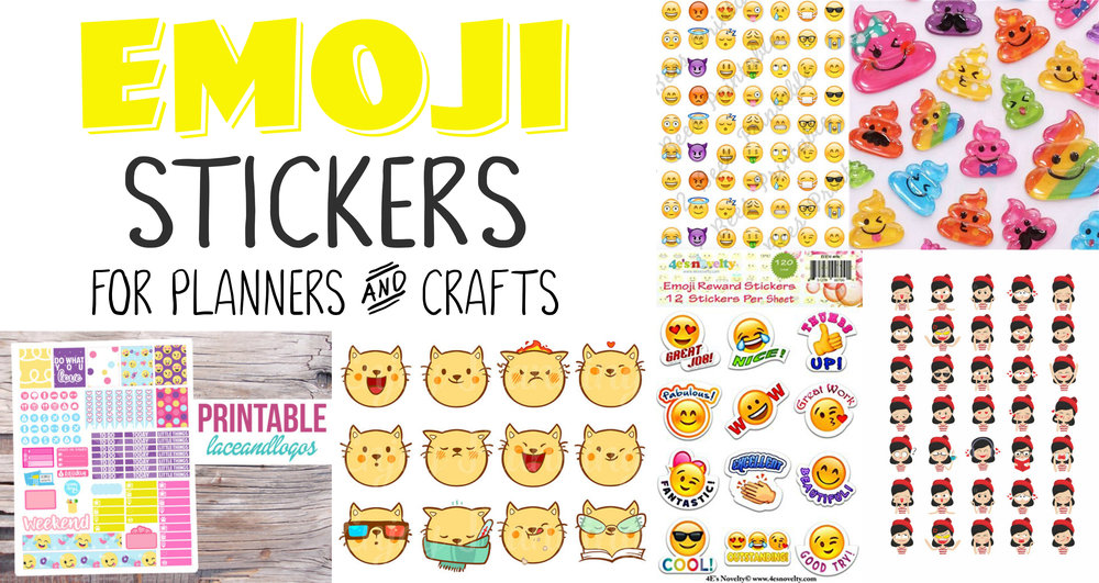 Emoji Planner Stickers and Arts and Crafts Stickers