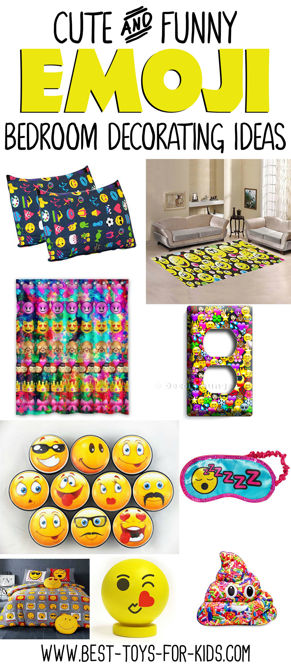 Emoji Bedroom Decorating Ideas