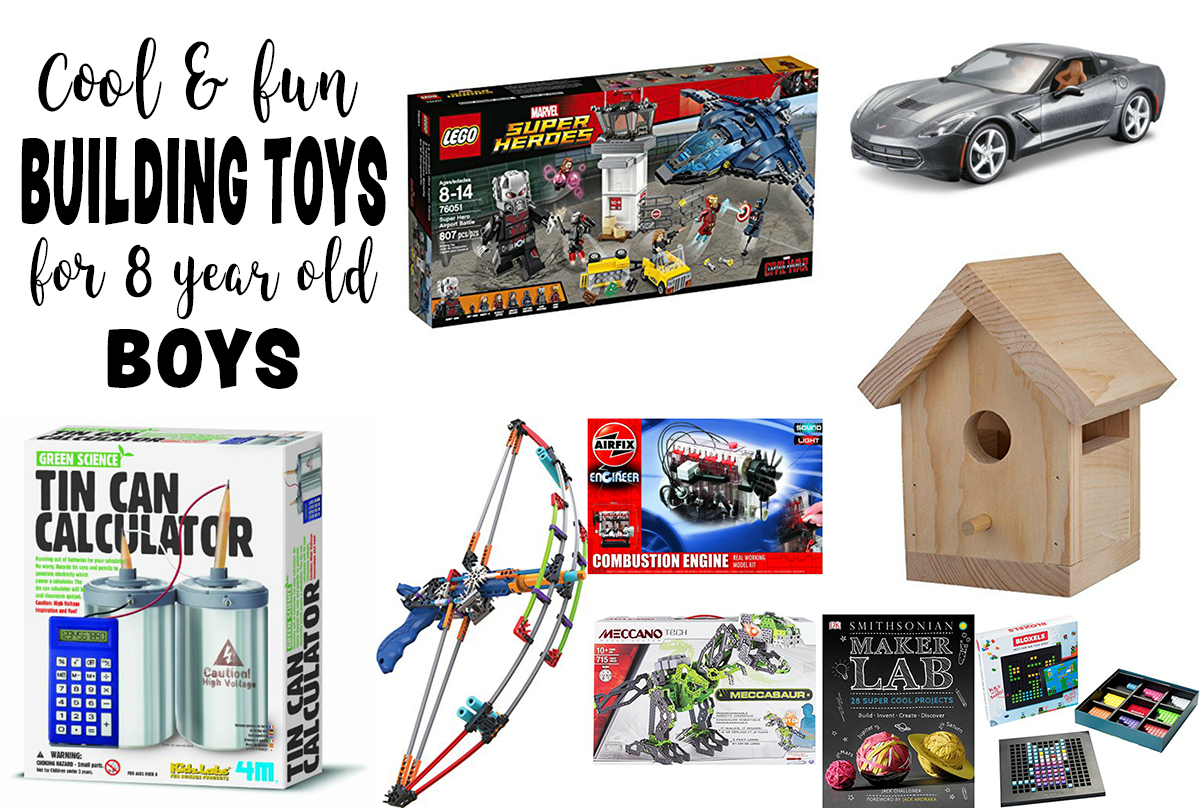 Gifts For 8 Year Old Boys Cool Things To Build Best Toys For Kids