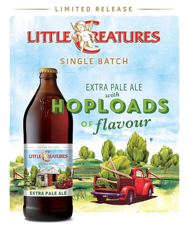 Hop loads of flavour with this Little Creatures single batch extra pale ale #ltcreatures #ltcreaturesbrewery #craftbeer #singlebatch #beer #hops #