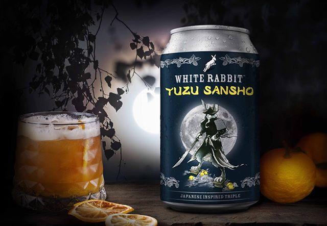 White Rabbit Yuzu Sansho, a Japanese inspired triple #whiterabbit_brewery #whiterabbit #craftbeer #beercans #cans #beer #packagingdesign #brandedpackaging #packaging #graphicdesign #brands