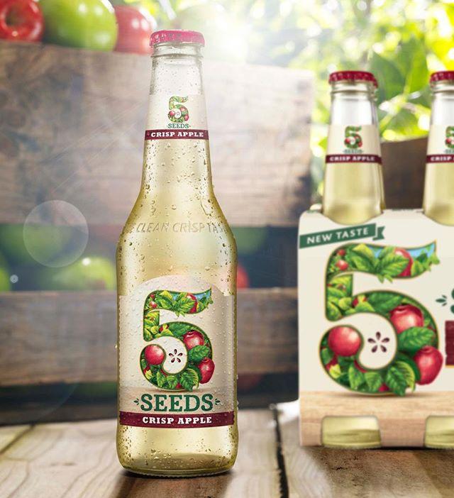 5Seeds, Crisp apple refresh #cider #beer #packaging #packagingdesign #brandedpackaging #branding #design #alcohol #alcoholdesign #alcoholpackaging