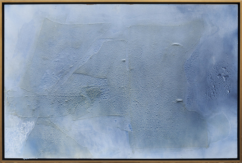 Blue Sky II 24 x 36 (Framed) Airbrush / Fiberglass fabric / Resin $1,200