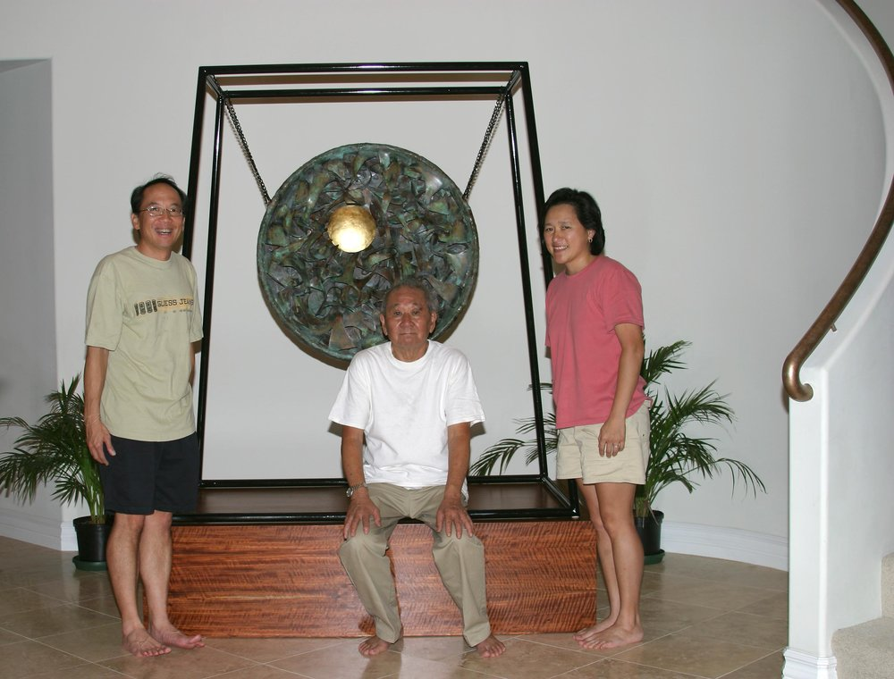 Abe with gong.jpg