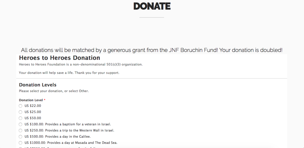 Donor page