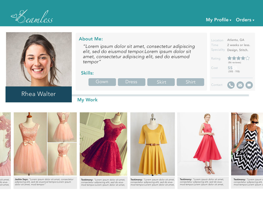 For Tailors: Their Profile is the Design Studio