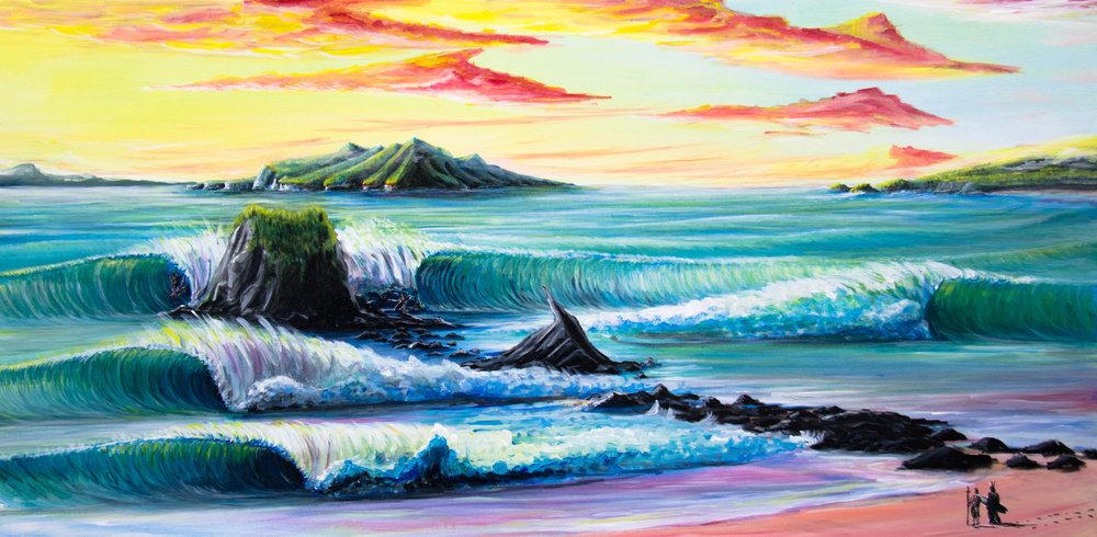 Mangawhai Head Rock for Drue Matich. Prints available dewsyart@gmail.com.