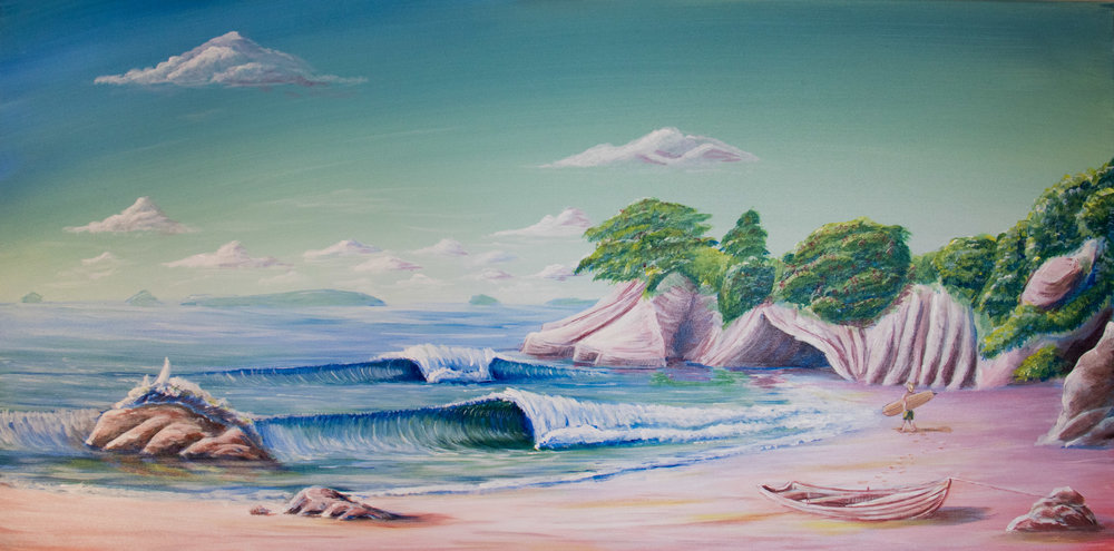 SOLD - Cathedral Cove. Prints available dewsyart@gmail.com