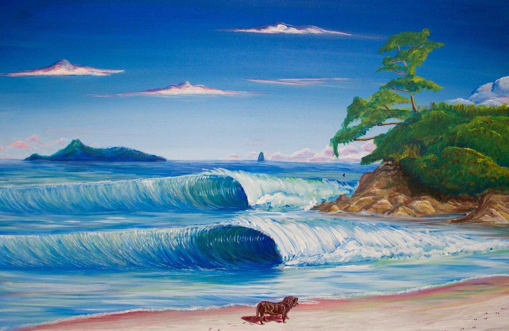 SOLD - Waipu Cove.Prints available dewsyart@gmail.com