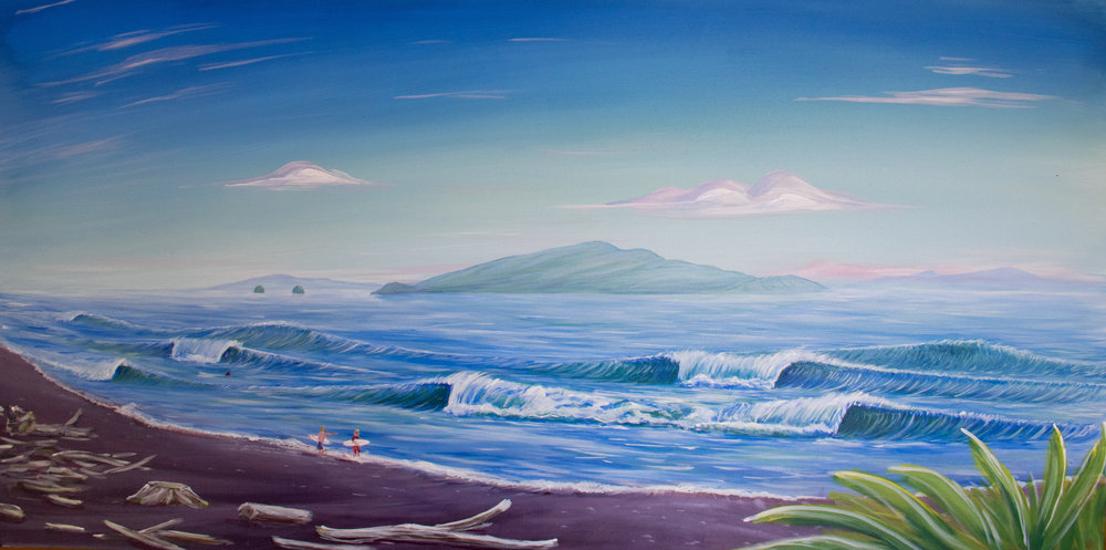 SOLD - Kapiti Island Prints available dewsyart@gmail.com