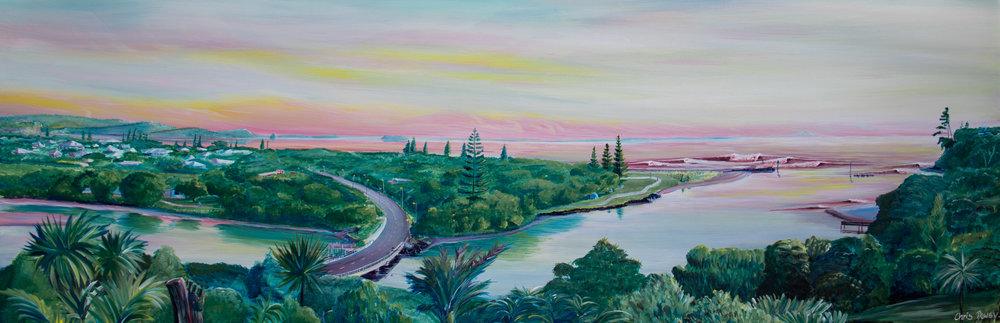 SOLD - Orewa Sunrise. Prints available dewsyart@gmail.com