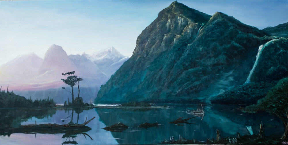 SOLD - Milford Sounds. Prints available dewsyart@gmail.com