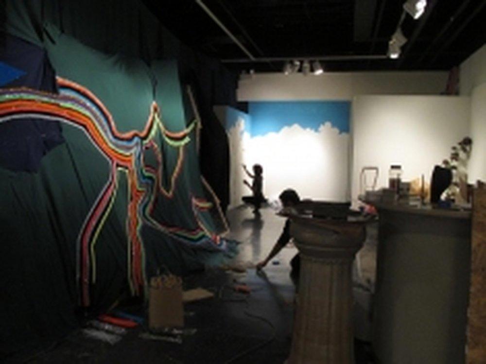 In progress photo.  Source: Santa Fe Reporter