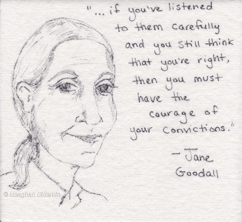 Jane Goodall -  British primatologist, ethologist, anthropologist, and UN Messenger of Peace