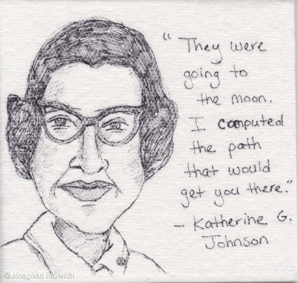 Katherine G. Johnson  -  American physicist, space scientist, and mathematician