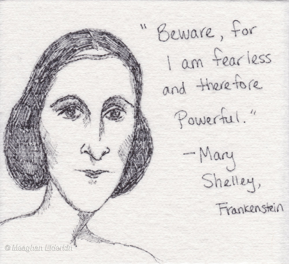 Mary Shelley -  English novelist, short story writer, dramatist, essayist, biographer, and travel writer