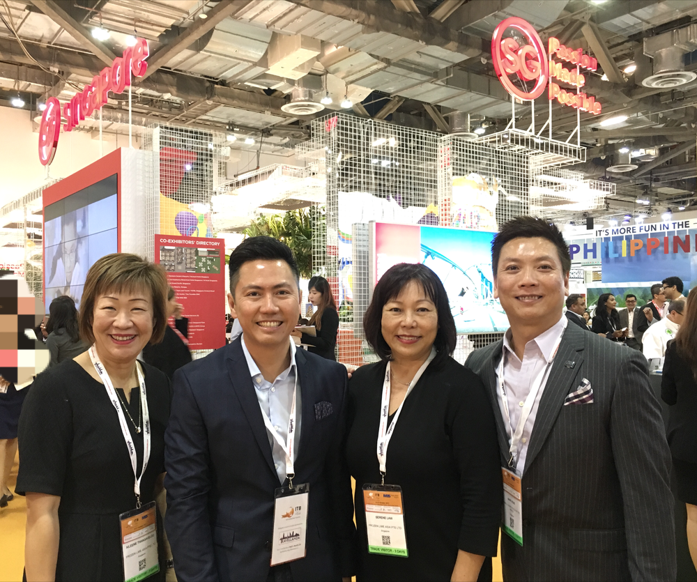 From left to right:  Ms Aileene Thangaveloo (Director - Marketing, FLA), Mr El Kwang (CEO, Biz Events Asia), Ms Serene Law (VP, FLA), Mr Mark Wong (VP, Asia Pacific at Small Luxury Hotels of the World).