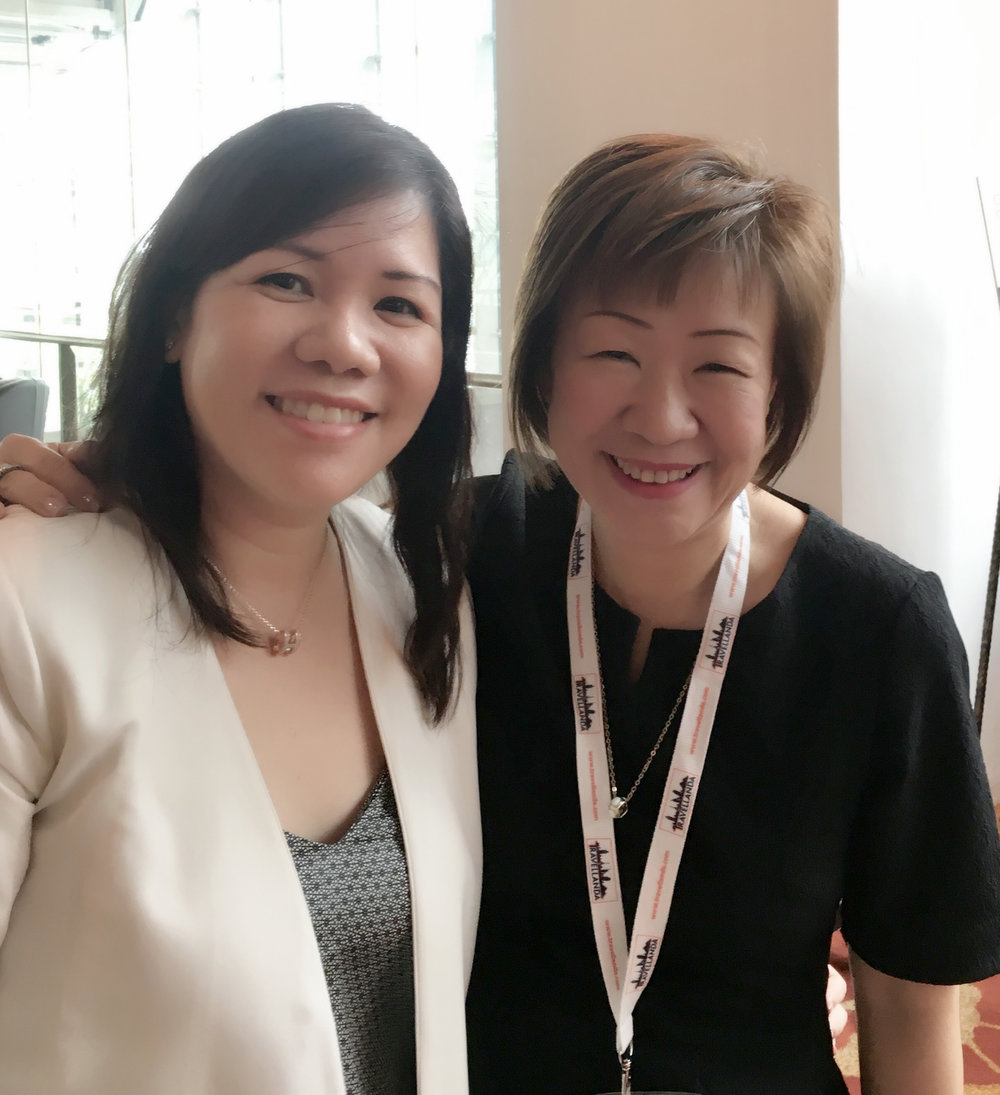 From left to right: Ms Wendy Mok (Director of Marketing, Asia Pacific - The Residences Maldives & Bintan), Ms Aileene Thangaveloo Director - Marketing, FLA).