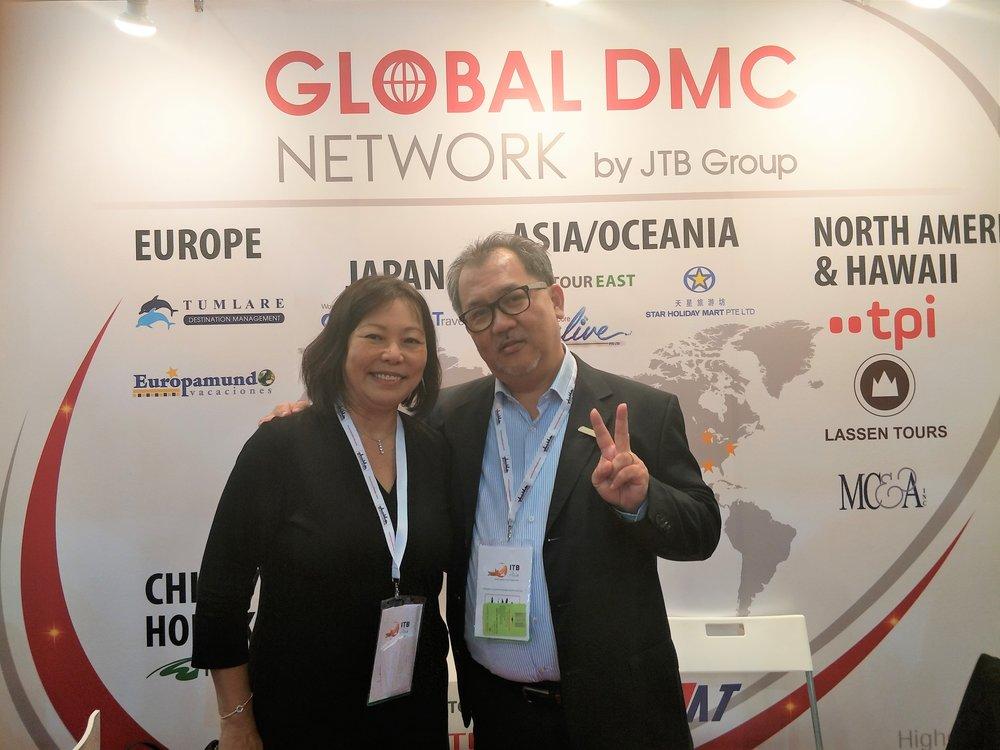 Ms Serene Law (VP, FLA), Mr Dennis Law (SVP Sales & Marketing Asian Market & Middle East - Tour East Holding Singapore).