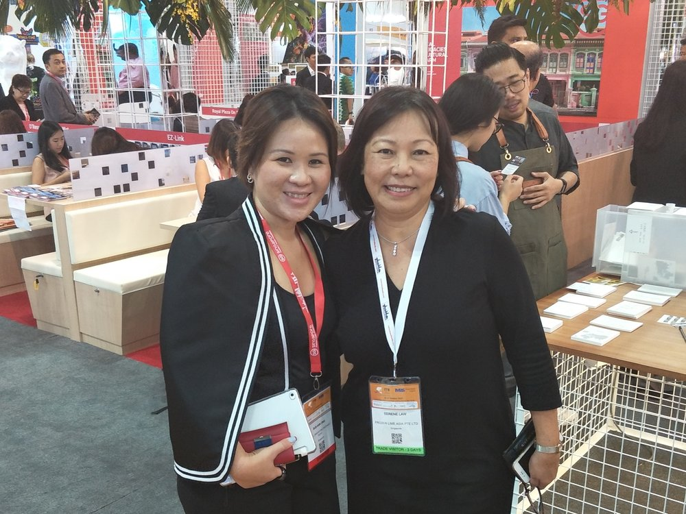From left to right:  Ms Sue-Ann Ong (Director of Sales, YOTEL Singapore), Ms Serene Law (VP, FLA).