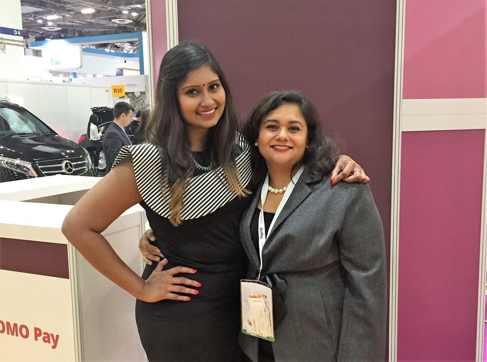 From left to right:  Ms Kausi Meyzhsagan (Marketing Communications Manager, Wyndham Hotel Group), Ms Jagdish Sandhu (CEO, FLA).