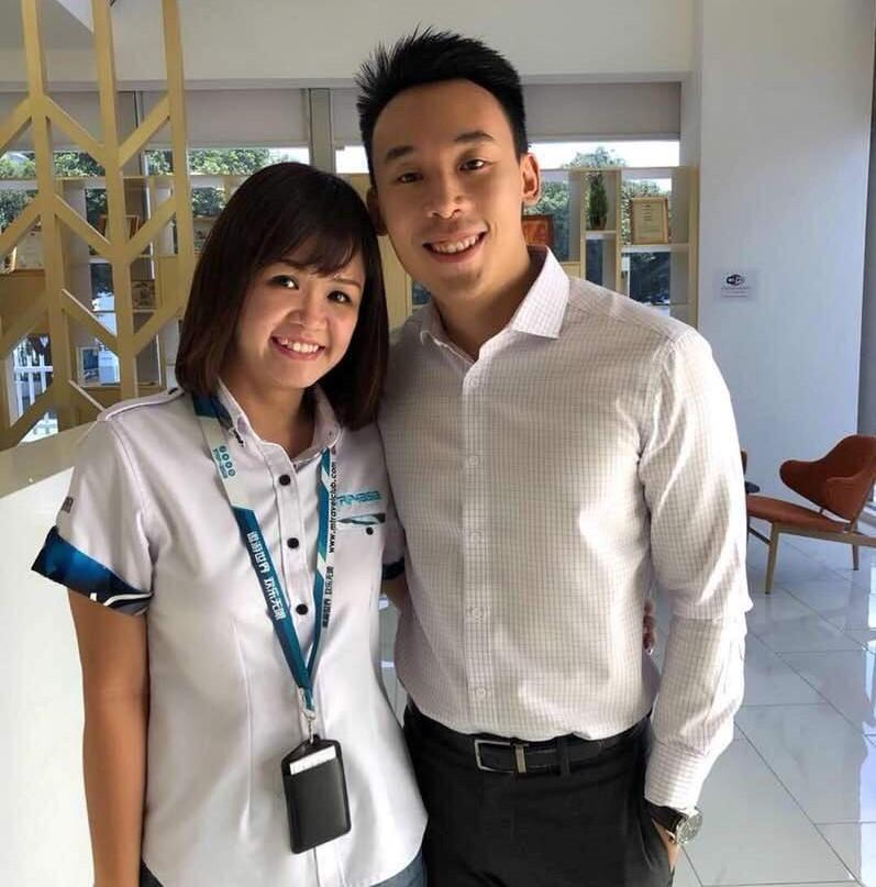 Zhi Hoe with Janice Chu, Trip4Asia Sdn Bhd.