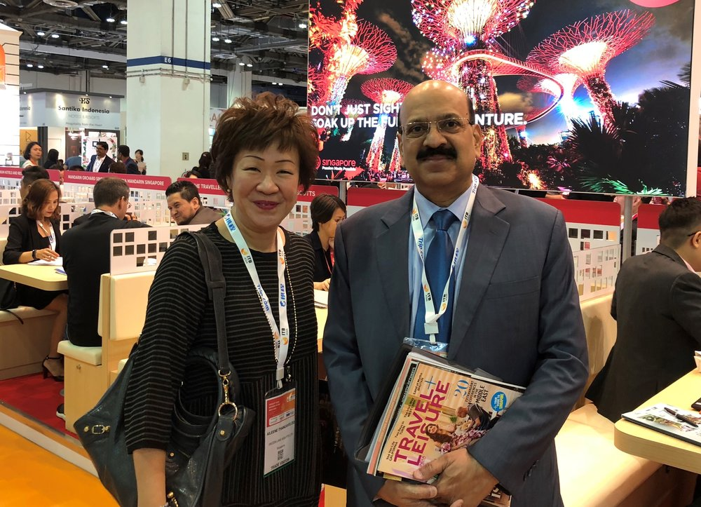 From left to right: Ms Aileene Thangaveloo (FLA) and Mr Sanjiv Bisaria (Travel & Leisure SEA).