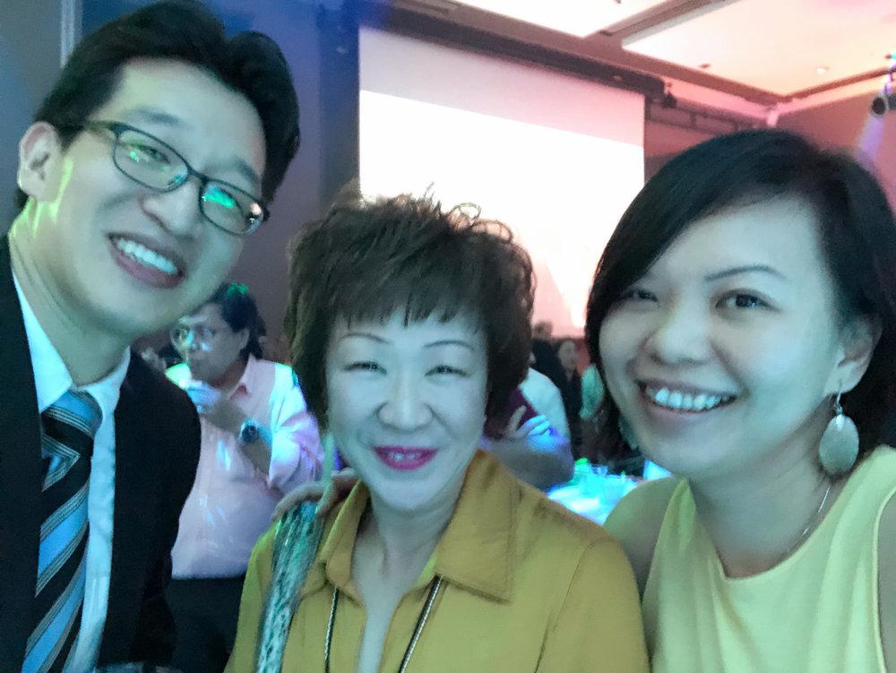 From left to right:  Mr Jonathan Yap (TTG Asia), Ms Aileene Thangaveloo (FLA), Ms Xinyi Liang-Pholsena (TTG Asia).