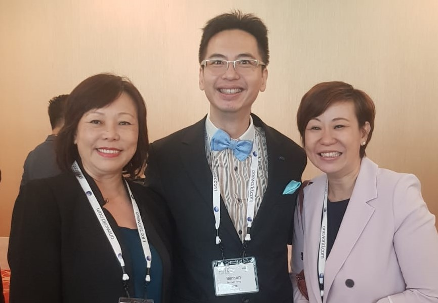 From left to right: Ms Serene Law (FLA), Mr Benson Tang (ACTE), Ms Sandy Yap (Park Hotel Group).