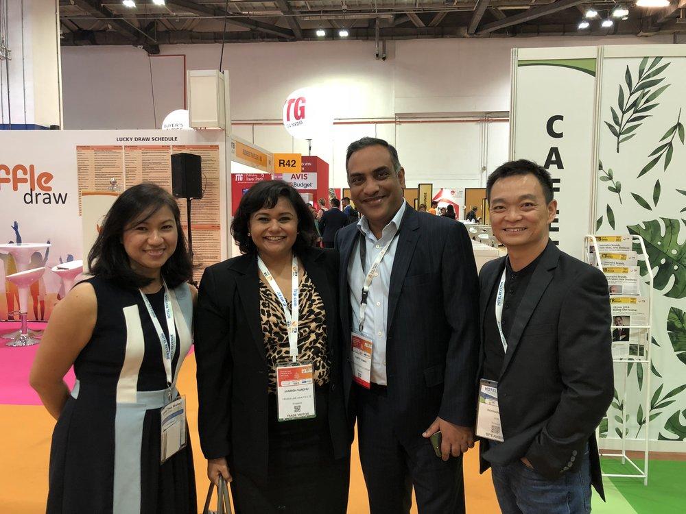 From left to right: Ms Fenady Uriarte (STR), Ms Jagdish Sandhu (FLA), Mr Suneet Kumar (Pan Pacific Group), Mr Bernard Kee (STR).