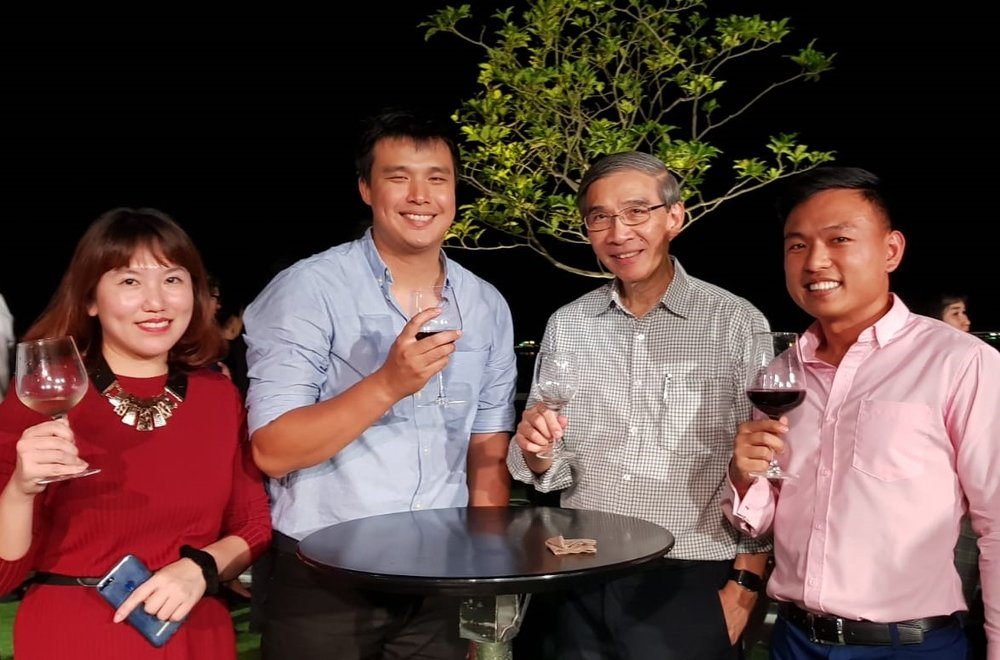 From left to right: Ms Nanzziie See (George Town Heritage + Hotels), Mr Ooi Yi Yung (George Town Heritage + Hotels), Mr Vincent Fong (NTUC Club), Mr Leonard Chiang (FLA).