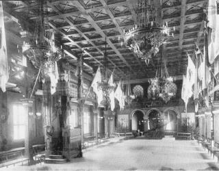 Stora salen år 1897. Kulturens arkiv.