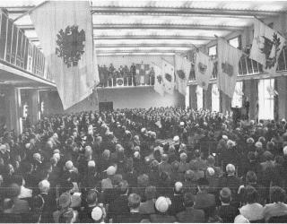 Stora salen efter ombyggnaden 1953. AF:s arkiv.