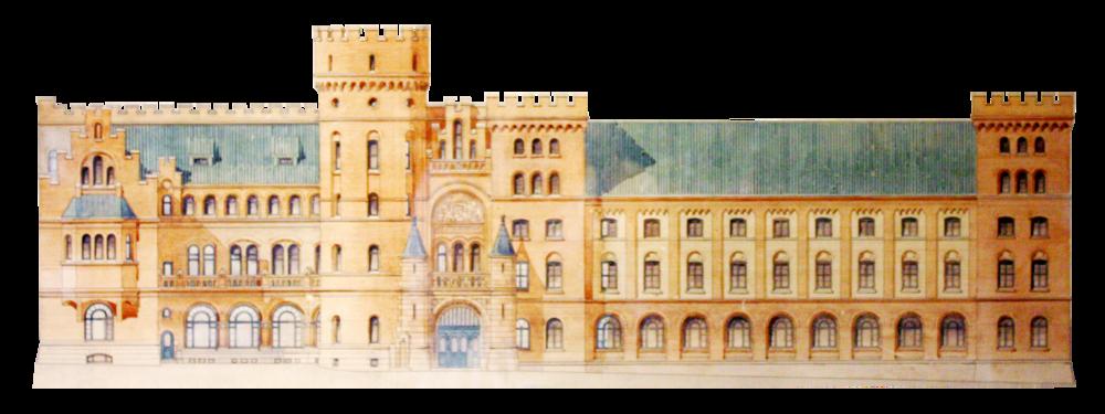 Fasadritning från första tillbyggnationen 1911, då husets norra del uppfördes. Nu är det dags igen!
