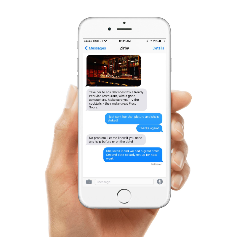 Get Help 1-on-1 Via Text | Zirby