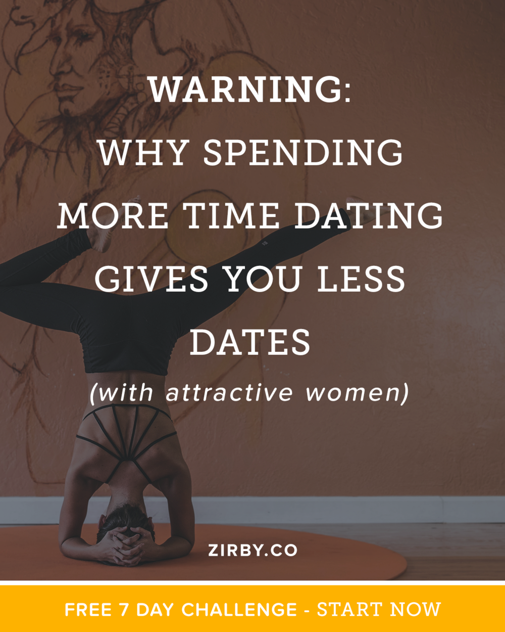 Wait, wait. Spending more time dating results in less dates? Seems counter-intuitive, but today I'm going to show you exactly why spending less time learning pick up will result in more dates with the attractive women you want to be with. And really, this isn't just about dating, or online dating, but for almost any skill that you undertake!