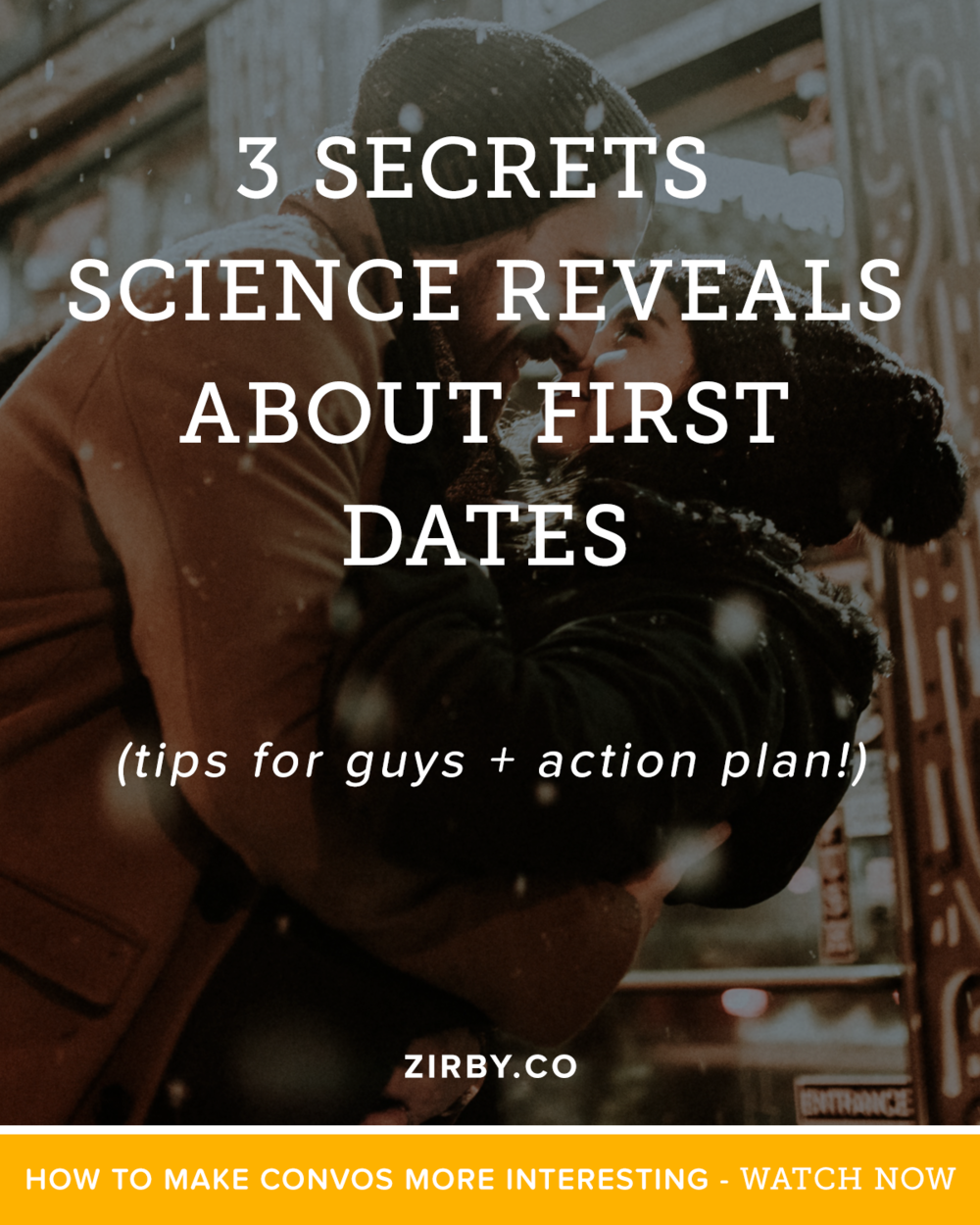 Today we're going to break down the 3 secrets that science reveals about amazing first dates, how to apply them to our own game, and most importantly, a step by step action plan to getting more skilled with conversation. By applying these principles you're on the road to having a successful second date. And a lot more beyond that... Let's dive in!