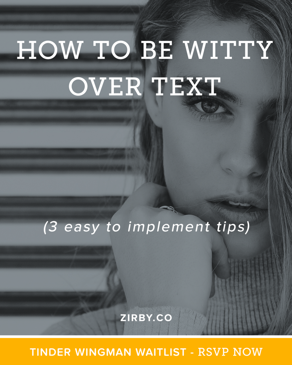 Wondering how to be Witty over Text, or on Tinder, OkCupid, etc? There's good reason. Wit is an extremely attractive quality in a man than women watch for. The best part is this skill is easy to learn with a little practice. I put together a video with 3 easy to implement tips that will start getting you more dates with beautiful women.