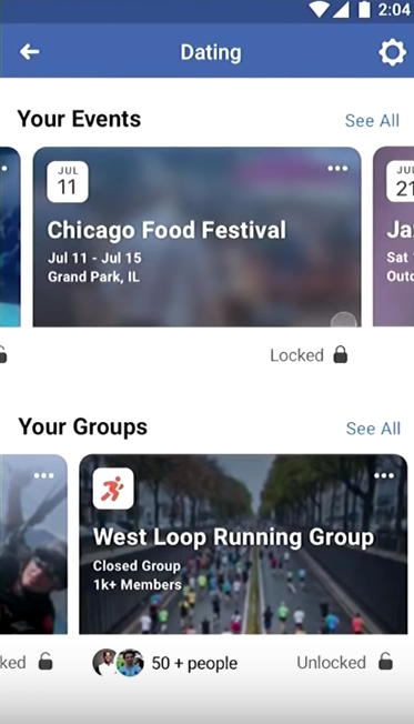 Facebook Dating By Events and Groups