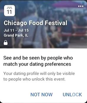 Unlock Facebook Dating Event