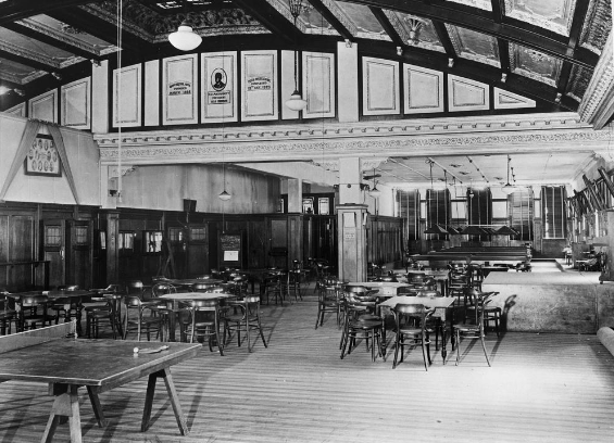 Interior of the Queensland Irish Association.