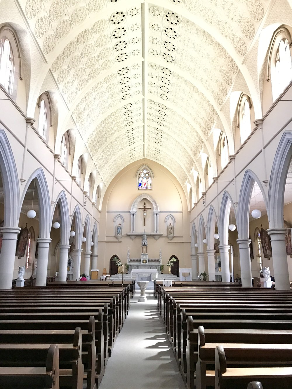 Inside the majestic St Mary's.