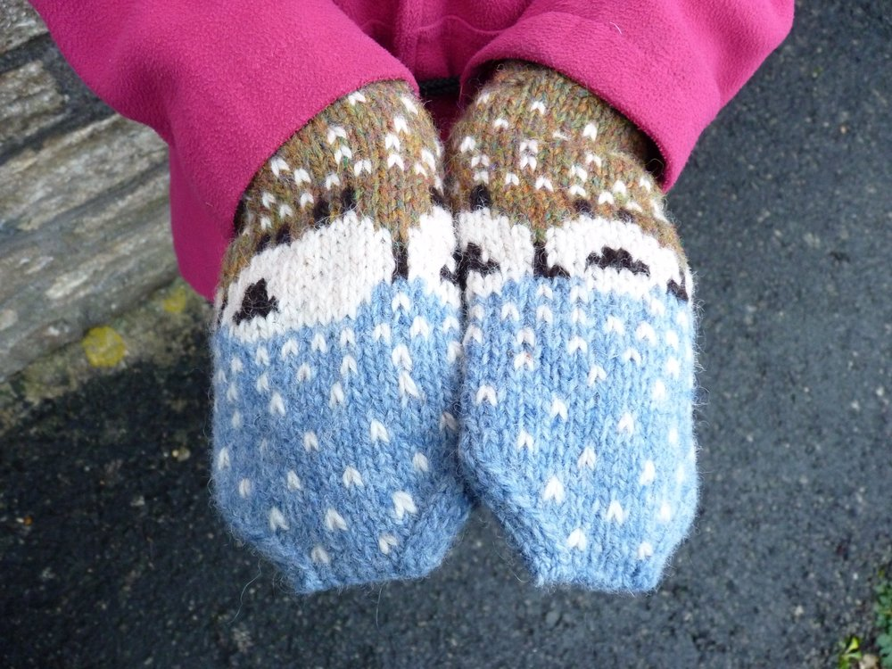 Baa-ble mittens are too adorable for words...