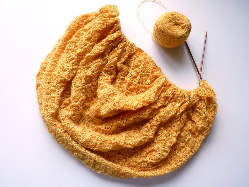 Golden Wheat shawl