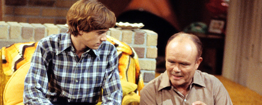 That 70s Show from Carsey Werner Television featured a great basement - check out the blanket!