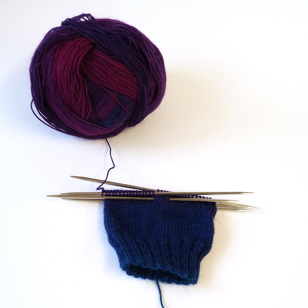 The Autumn is Timeless colourway is going to make a lovely pair of socks.