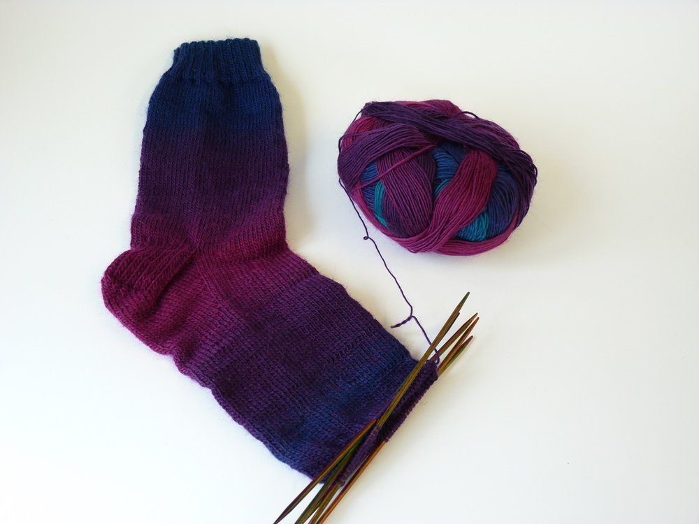 No turquoise in the first sock, but definitely in the second! :)