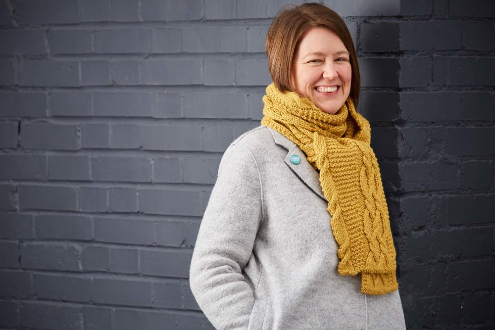 Yellow Wagtail scarf by Sarah Hatton. Image © Jesse Wild