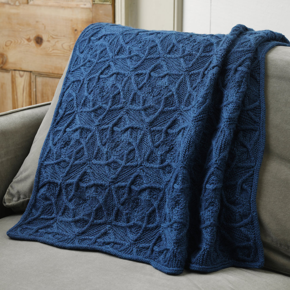 The show-stopping Pleione blanket by Lucy Hague. Image © Jesse Wild.
